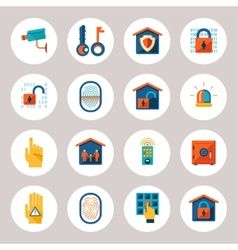 Real Estate Protection Icons vector