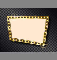 rectangular shape empty banner gold blank frame vector image