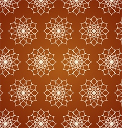Retro Line Art and Flower Pattern on Pastel Color vector image