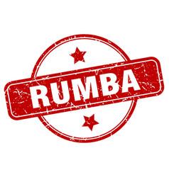 Rumba stamp rumba round vintage grunge sign rumba vector