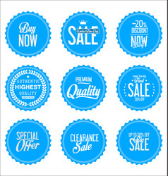 sale blue modern stickers collection vector image