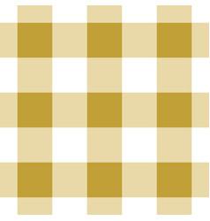 seamless white dark and bright ocher tartan vector image