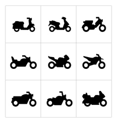 Set icons of motorcycles vector image