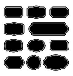 set monochrome vintage frames design elements vector image