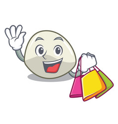 Shopping character cartoon fresh mozzarella cheese vector