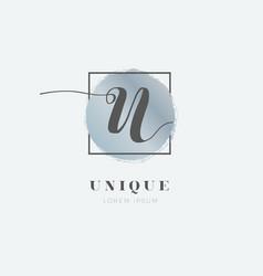 simple elegant initial letter u logo type sign vector image