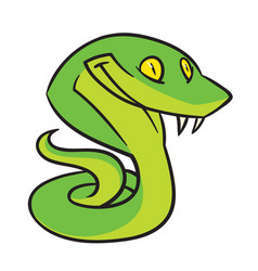 Snake with a smile vector