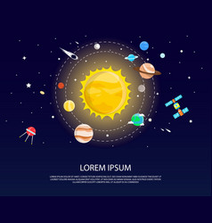 solar system and planets graphic and design vector image