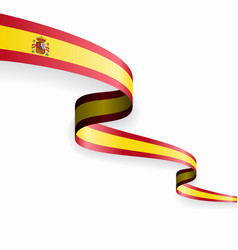 Spanish flag wavy abstract background vector