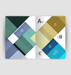 squares and rectangles a4 brochure template vector image