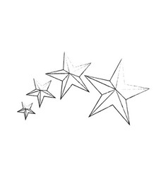Star medal shape vector