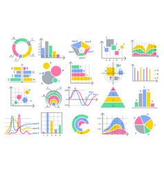 stats charts graphics vector image