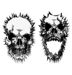 Stylized skulls vector