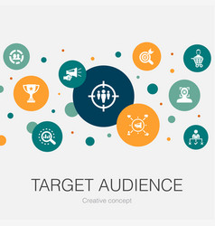 Target audience trendy circle template with simple vector