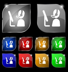 Telemarketing icon sign Set of ten colorful vector image