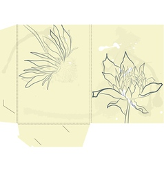 Template for folder vector image
