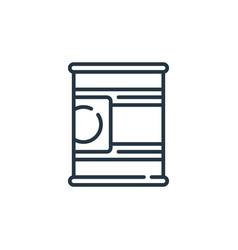 Tin icon tin editable stroke tin linear symbol vector