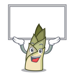 Up board bamboo shoot character cartoon vector