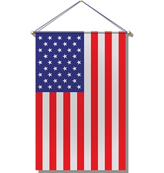US Flag Hanging vector image