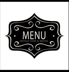 Vintage menu banner image vector