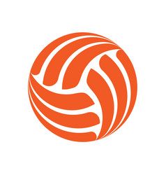 Volleyball background sign vector