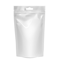 white realistic polyethylene bag with hang slot vector image