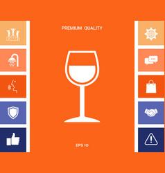 Wineglass symbol vector