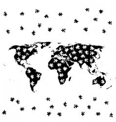 World jigsaw vector