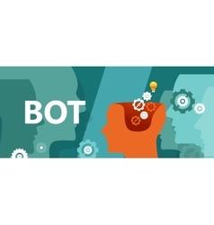 Bot head gear computer technology vector image