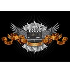 Coat of arms film clapper vector