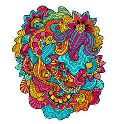floral tattoo zentagle methoddoudles composition vector image vector image
