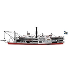Historical steam riverboat vector image vector image
