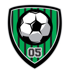 logo template with soccer ball vector image vector image