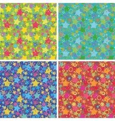 Seamless backgrounds stars vector image