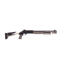 shotgun gun hunting rifle isolated silhouette vector image