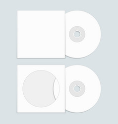 cd with cover template vector image