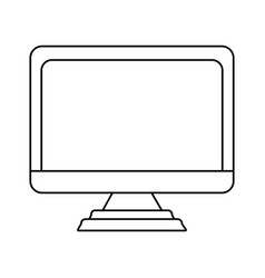 electronic laptop on vector image