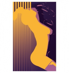 erotic girl abstract vector image vector image