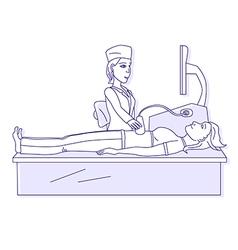 Medical ultrasound vector image