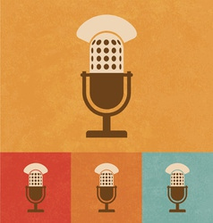 Old Microphone vector image