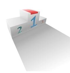 Realistic sport winners podium vector image vector image
