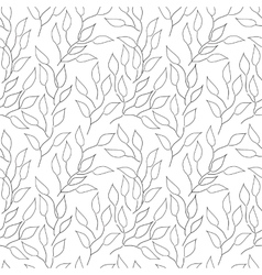 Seamless black and white background with leaves vector image vector image