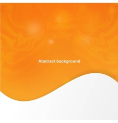 Abstract orange cover with smooth lines vector image