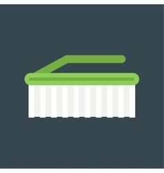 cleaning brush icon work equipment vector image