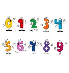Friendly Cartoon Numbers Set vector image vector image
