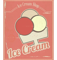 Ice Cream Card vector image vector image