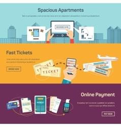 reserving tickets online vector image vector image