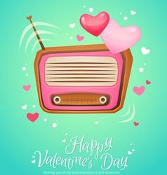 Romantic retro love radio with antenna vector