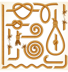 Rope elements vector