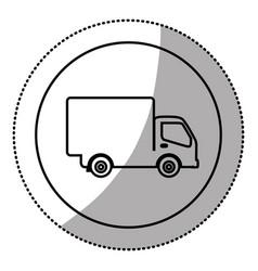 silhouette symbol delivery car icon vector image vector image